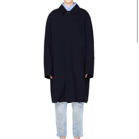enjoy cheap price 2019 discount sale favorable price SALE!!!!! Navy blue mackintosh coat by vetements NWT